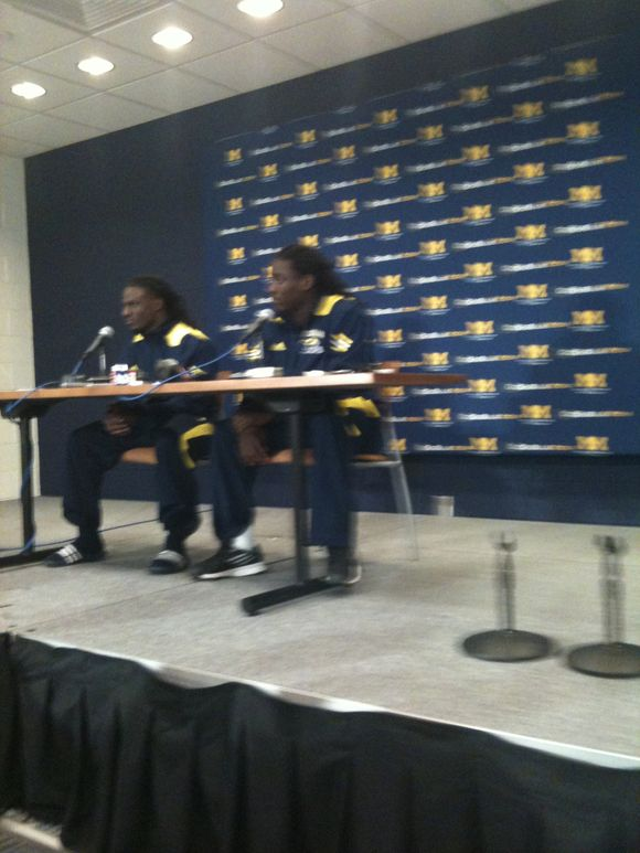 Denard Robinson and Vincent Smith